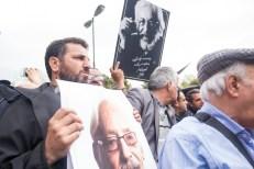 The funeral ceremony of Iranian veteran actor Jamshid Mashayekhi