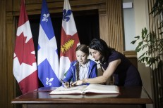 Mayor of Montreal, Valérie Plante, rewarded the Swedish high school student activist Greta Thunberg, with the key of the City