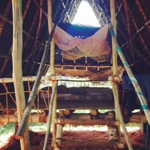The bamboo hut