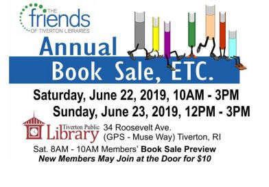Annual Book Sale: 6/22 & 6/23