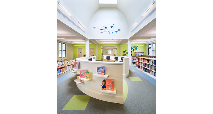 the computer area of the children's room