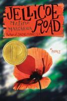Book cover of Jellicoe Road with an orange and red flower image