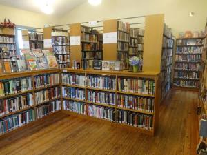 photo of the bookcases inside the union library