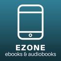"digital drawing of a smart phone captioned ""ezone ebooks & audiobooks"""