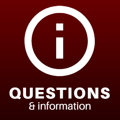 questions and information icon. white letter i info symbol over dark red backgound