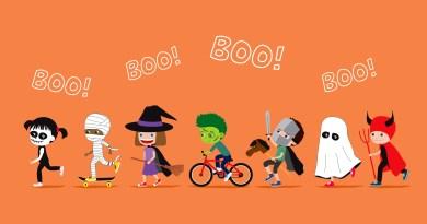 halloween kids in parade