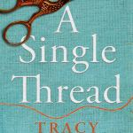 a single thread by tracy chevalier pair of scissors that are decorated to look like a bird