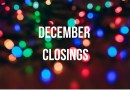December Holiday Hours