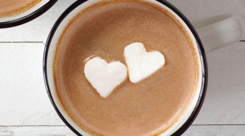 hot chocolate heart marshmallows