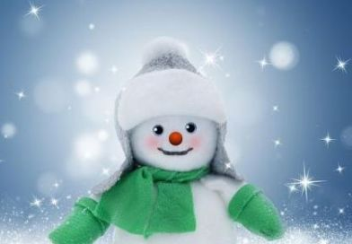 snowman green scarf mittens