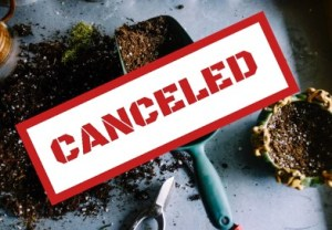 canceled logo over gardening