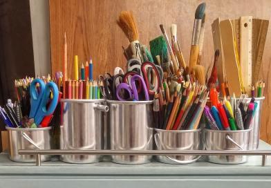 Makers--pencils-in-stainless-steel-bucket