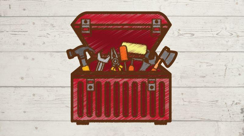 tool box and wood
