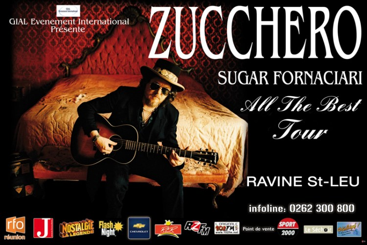 Affiche-Zucchero-all the best tour