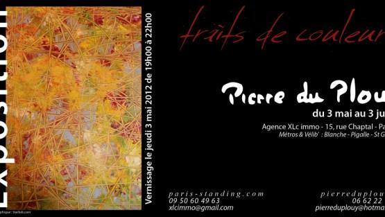 Invitation - Exposition - Peinture -Traits-de-couleurs