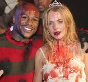 Floyd Mayweather Jr. and Lindsay Lohan