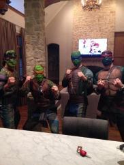 Dallas Stars Brenden Dillon, Jamie Benn, Tyler Seguin, and Cody Eakin as TMNTs