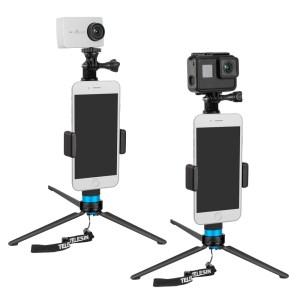 TELESIN GP-MNP-090-S Extendable Aluminum Alloy Selfie Stick With Tripod And Phone Clip india tiyana 1