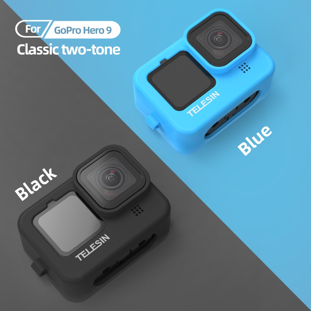 TELESIN GP-HER-041-BL Blue Silicone Soft Protective Case For GoPro 9 india tiyana 13