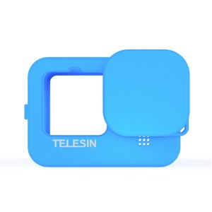 TELESIN GP-HER-041-BL Blue Silicone Soft Protective Case For GoPro 9 india tiyana 4