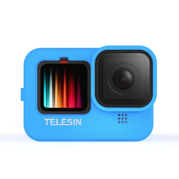 TELESIN GP-HER-041-BL Blue Silicone Soft Protective Case For GoPro 9 india tiyana 5