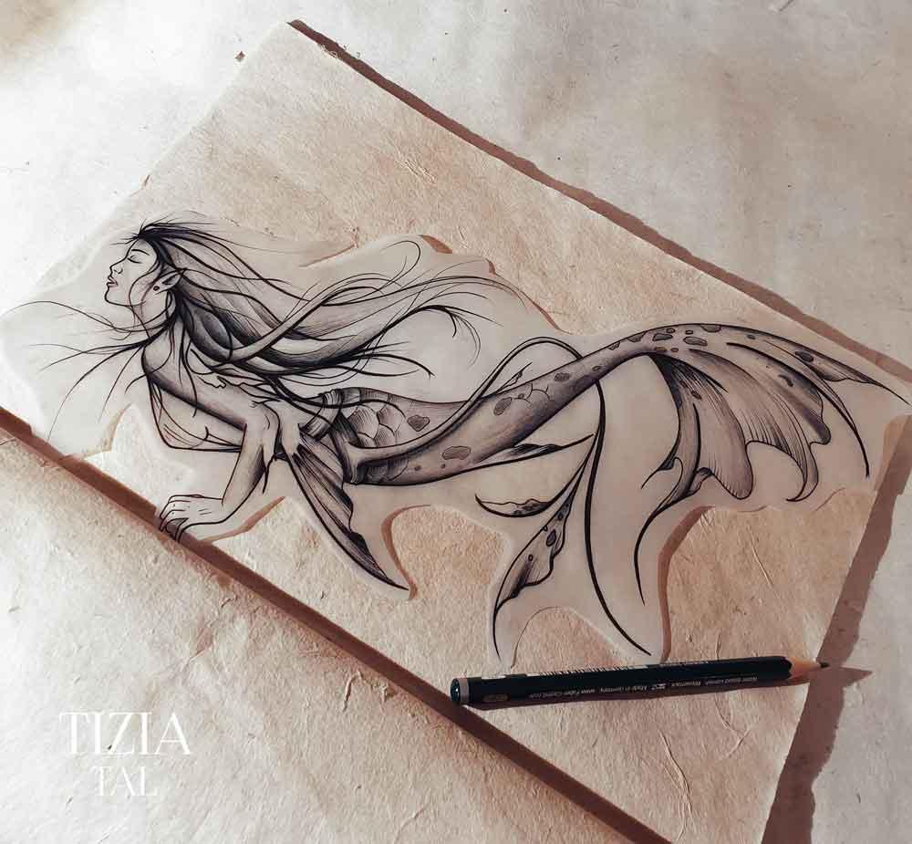 dessin-sirène-femme-toulouse