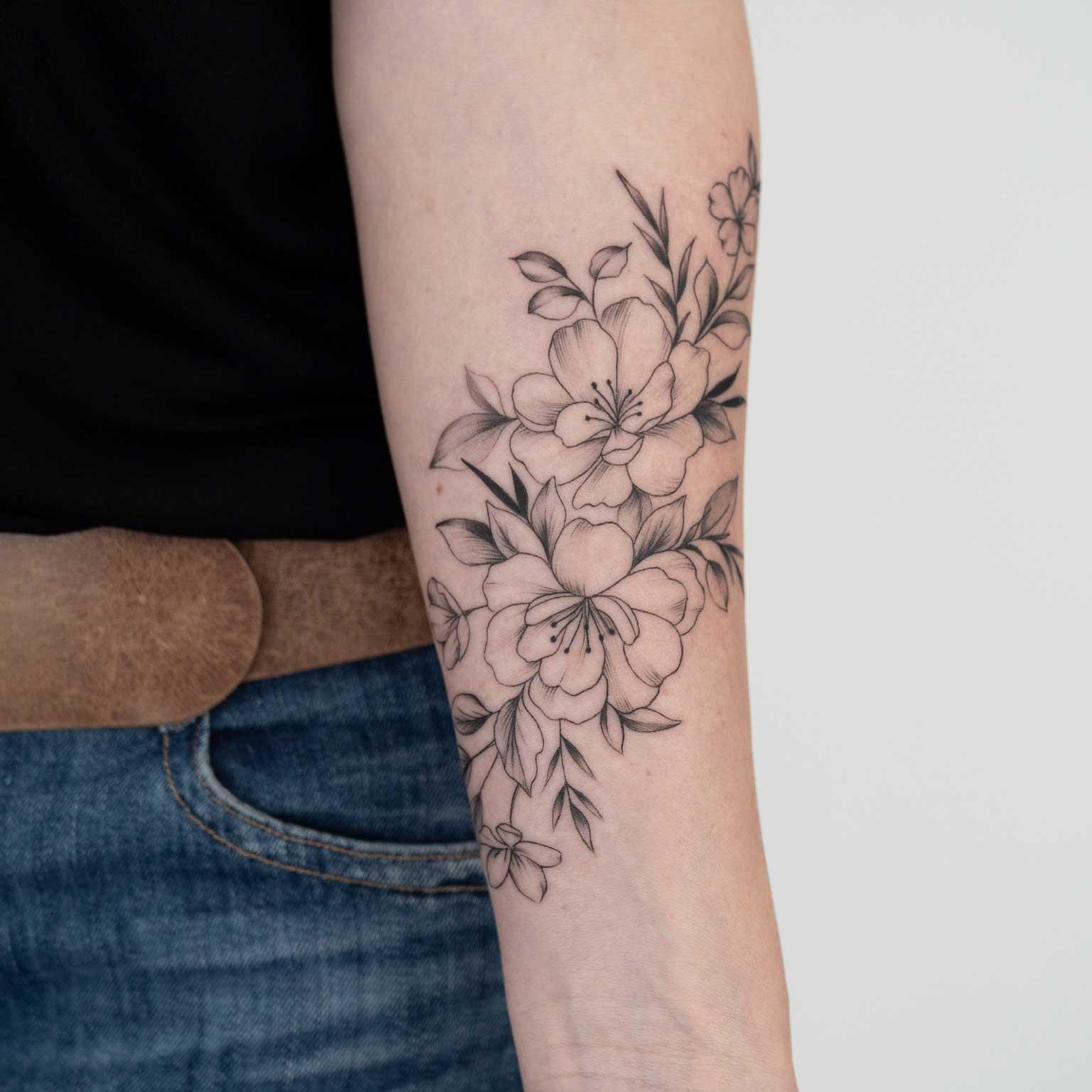 tattoo-bras-fleur