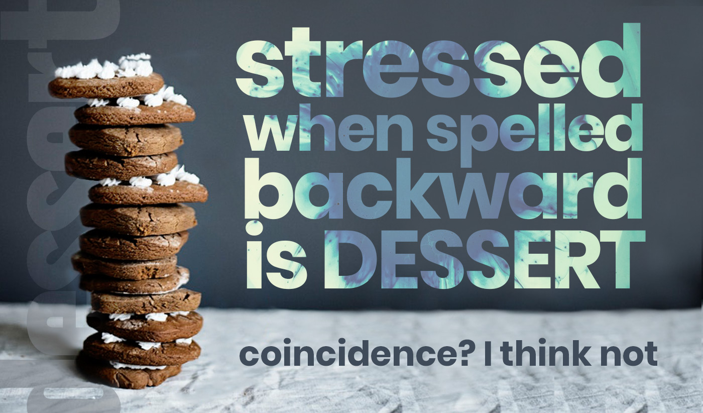 daily inspirational quote image: a table with a stack of chocolate cookies covered in frosting