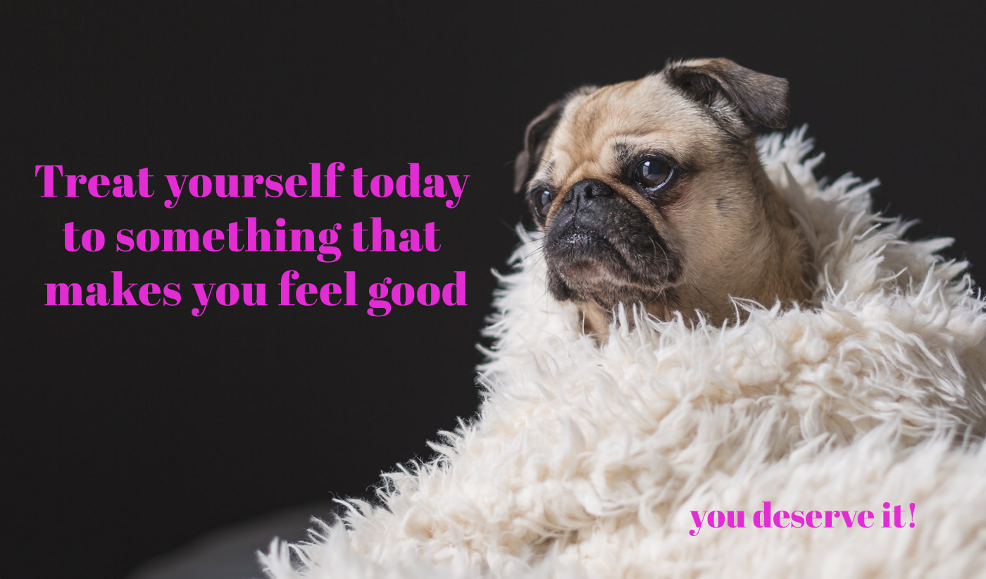 daily inspirational quote image: cute puppy wrapped in a faux-fur blanket
