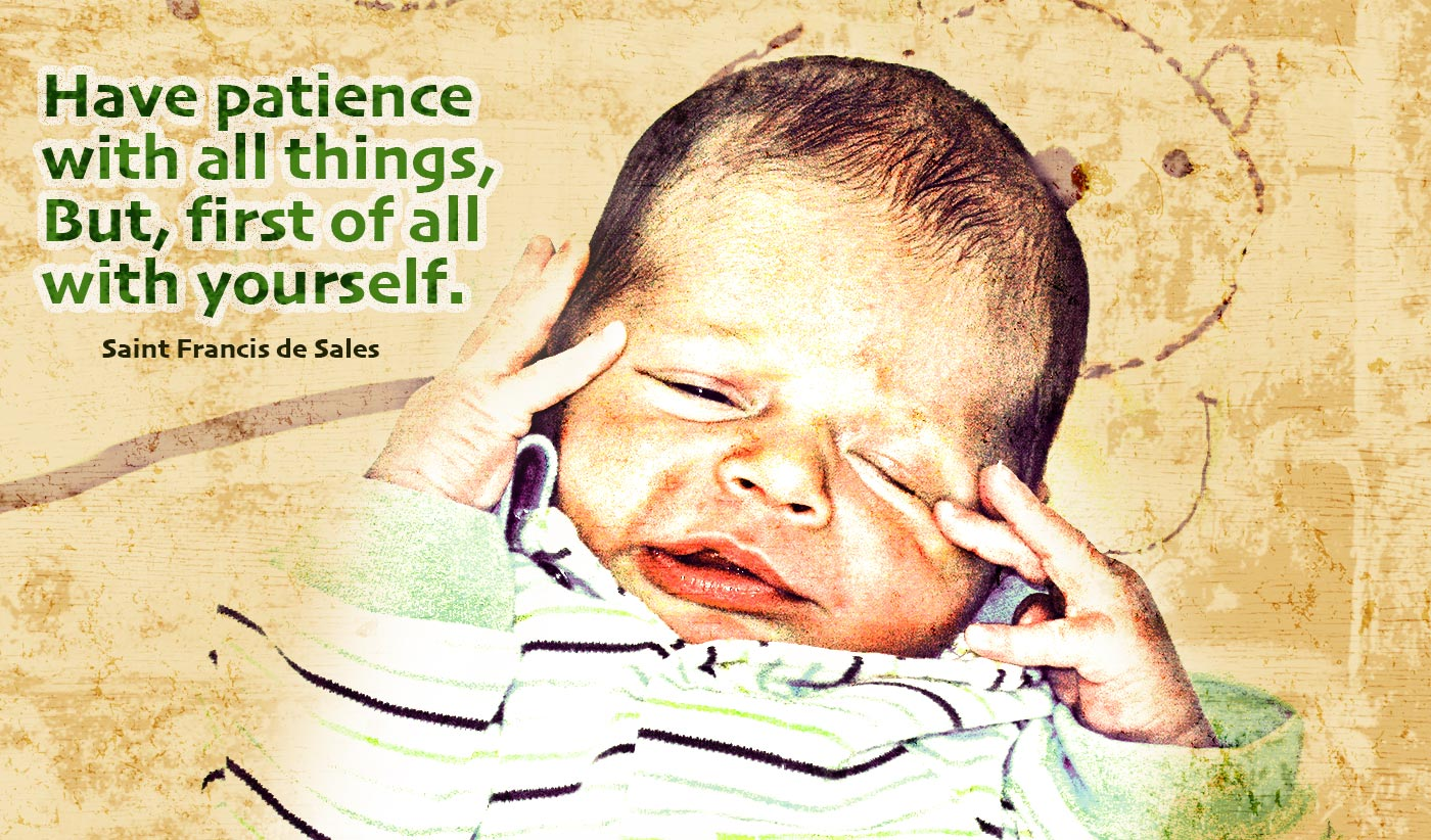 daily inspirational quote image: a cute newborn scrunching his face