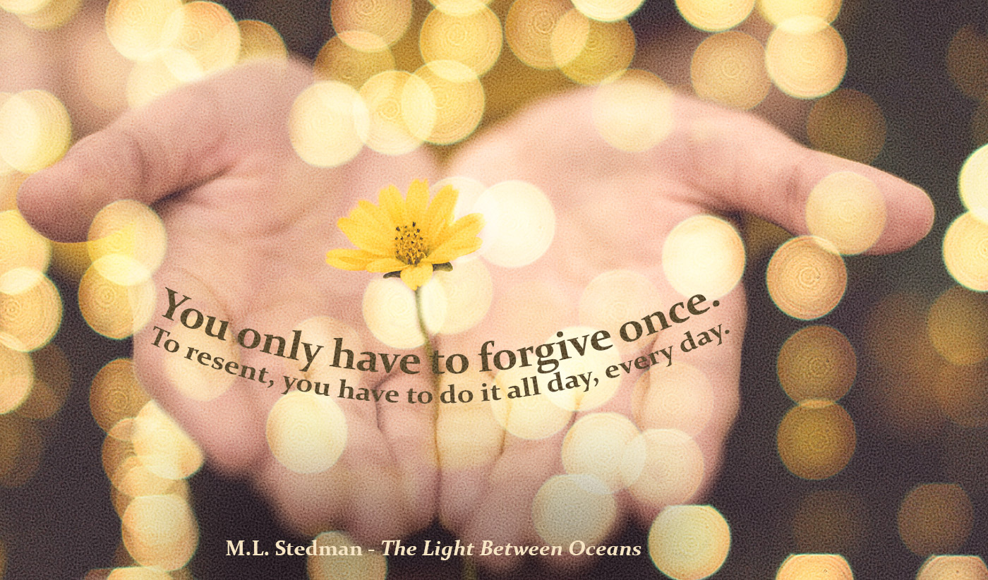 dailyinspirational quote image: two hands, palms up, holding a yellow flower