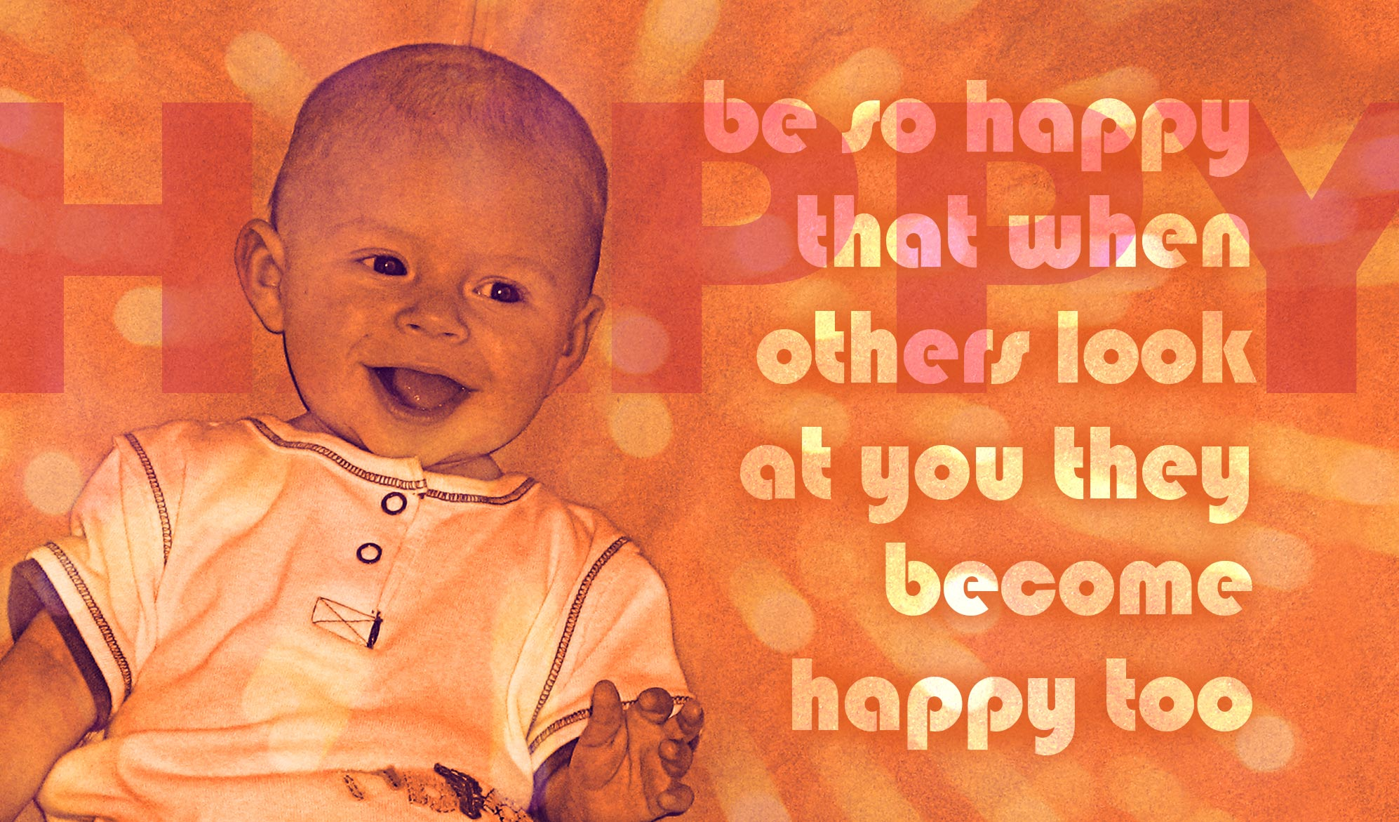 daily inspirational quote image: a beautiful baby smiling a toothless grin