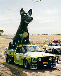 Dog in a Ute World Record Statue