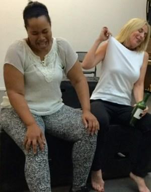 Yvette King & Martha Ghio as Twinkle & Loke