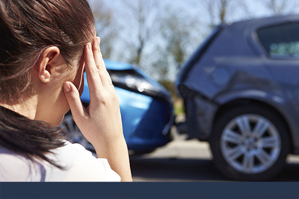 Woman is calling about a car accident