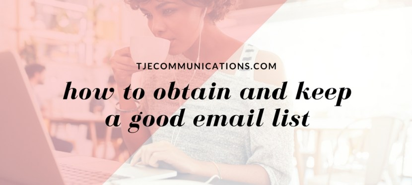 How to obtain and keep a good list
