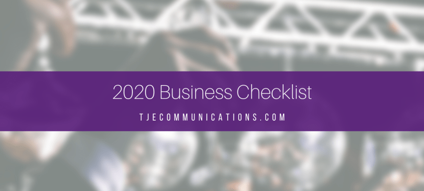 Here's your 2020 Business Checklist