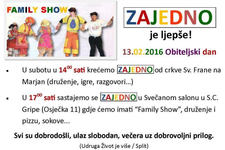 13.2. Family show – Zajedno je ljepše, Split
