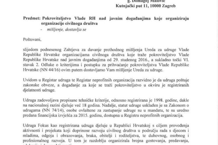Ured za udruge Vlade RH prepoznao važnost obilježavanja Tjedna braka u Hrvatskoj