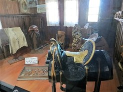 Tack Room: the closest saddle was Hart's.