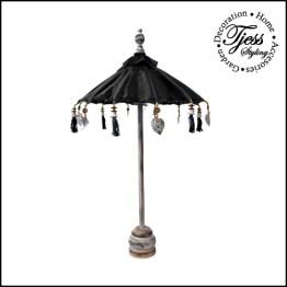 tafel parasolletje zwart