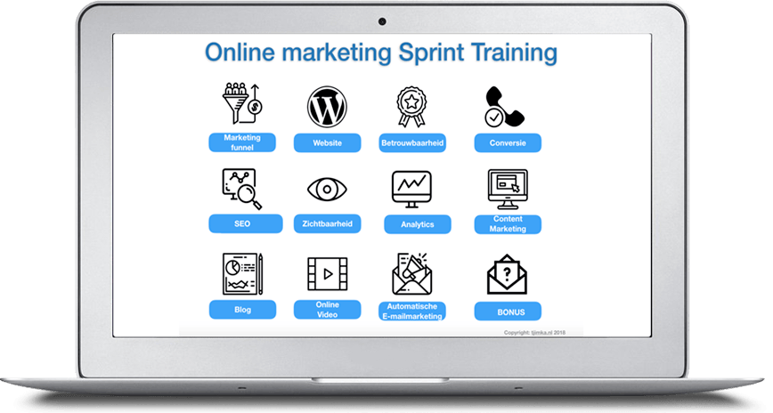 Tjimka.nl   Online marketing Sprint Training