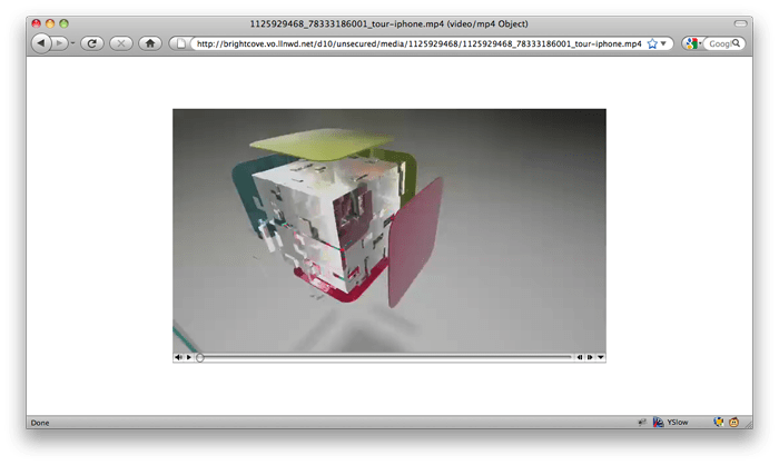 A screenshot of downloading a Brightcove video in Firefox.