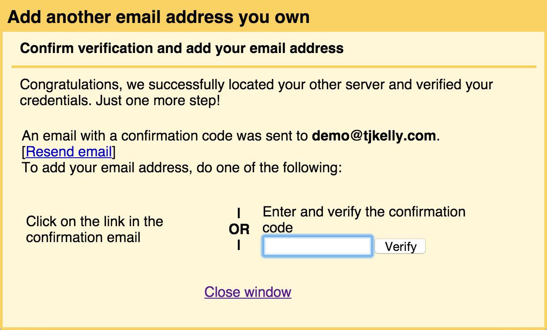 Gmail GoDaddy email forward (15): Verification code.