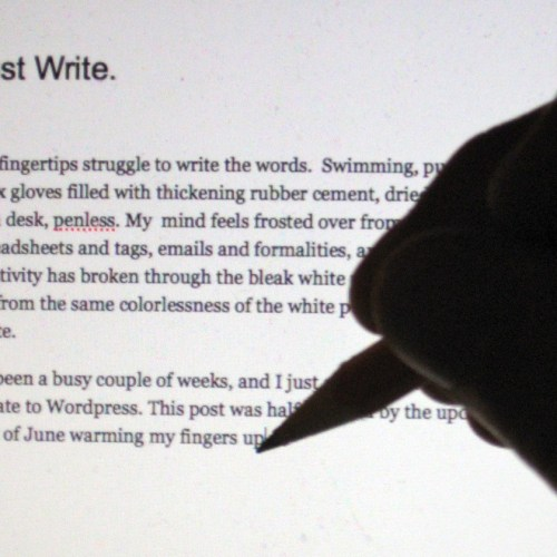 Just write (image by Preston Porter).