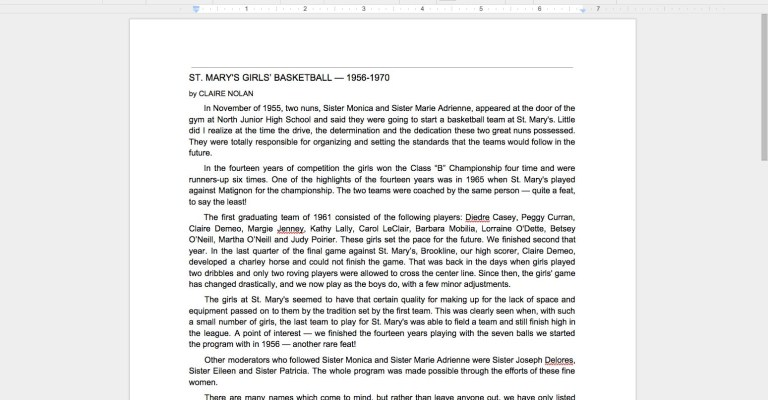 Screenshot of a PDF converted to text with Google Drive.