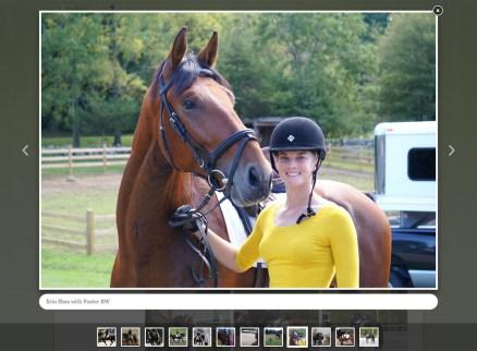 Portfolio item: Erin Shea Dressage - Photo page.