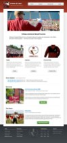Portfolio item: UMass Band Parents - Home page.