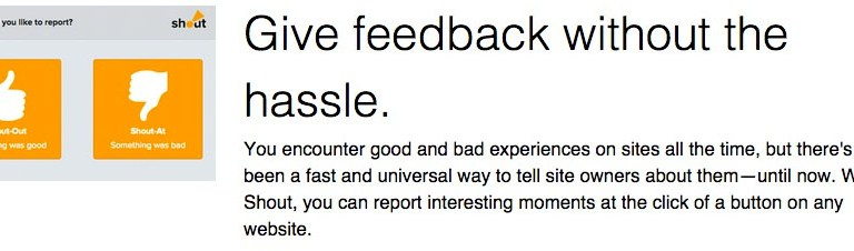 Shout User Testing: Promo 2, No hassle.