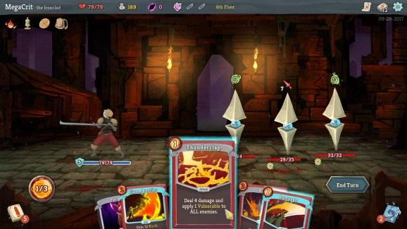 A screenshot of Slay The Spire gameplay.